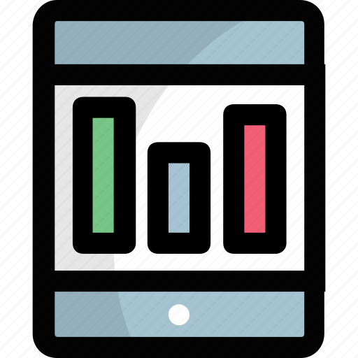 computer business application, ios app, mobile app, mobile bar chart, smart business app icon