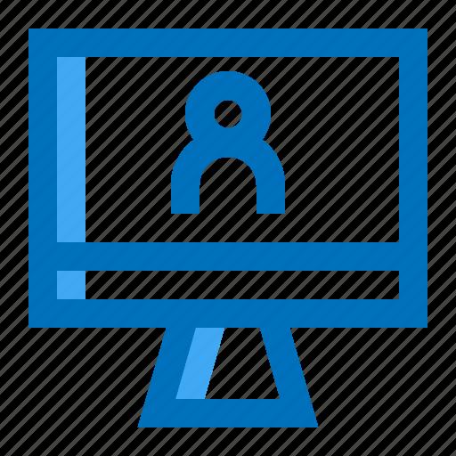 account, monitor, user icon