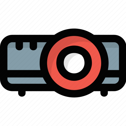 beamer, led projector, multimedia, presenting device, projector icon