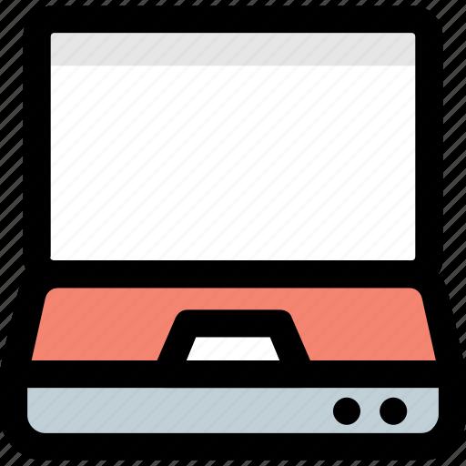 laptop, laptop computer, macbook, notebook, portable computer icon