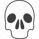 alert, danger, dead, death, skeleton, skull, warning icon