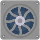 electronic, cooling, computer, device, fan icon