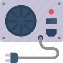 cable, device, computer, electronic, fan icon