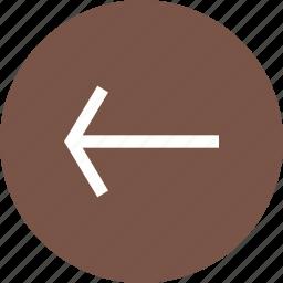 arrow, back, backspace, computer, left, previous, undo icon