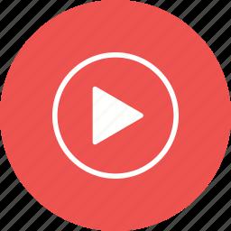 arrow, multimedia, music, play, player, run, video icon
