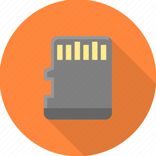 card, chip, memory, memory card, storage icon