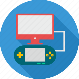 computer, game, sports, video game icon