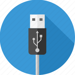 cable, connector, data cable, drive, storage, usb icon