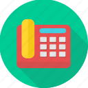 communication, device, fax, machine, telephone icon