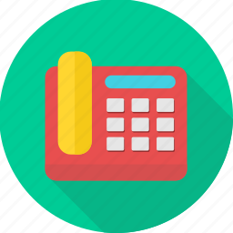 communication, device, fax, machine, telephone icon