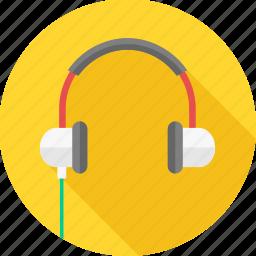audio, head phone, instrument, music, musical, sound, volume icon