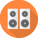 audio, communication, instrument, media, music, sound, speaker icon