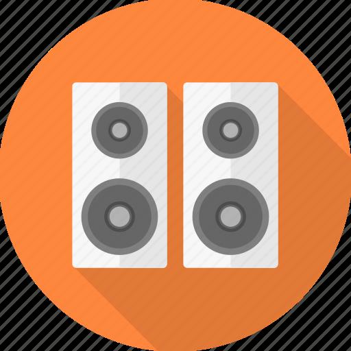 audio, communication, instrument, media, music, sound, speaker icon