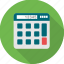 accounting, business, calculate, calculating, calculation, calculator icon