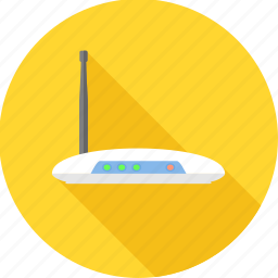 connection, internet, modem, network, router, web icon