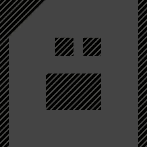 Storage, card, sd icon