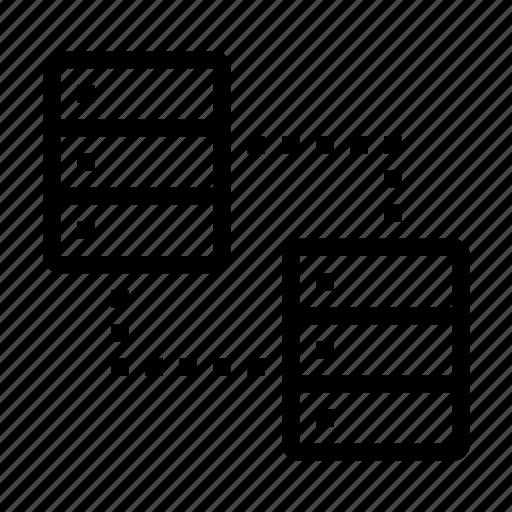communication, connect, database, internet, network, server, sync icon