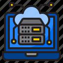 cloud, cloudserver, network, laptop, server