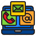 email, phone, call, laptop, communication