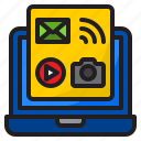 multimedia, email, camera, laptop, communication