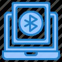 bluetooth, laptop, communication, technology, internet
