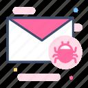 code, email bug, hack, infect, internet, spam, virus