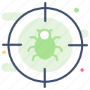 infect, virus, error, bug, hack icon