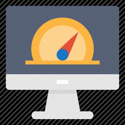 computer, monitor, optimization, technology icon