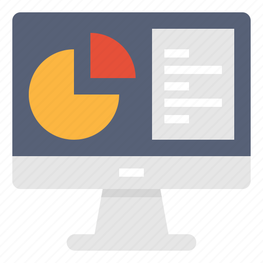 analysis, computer, data, market, monitor, research, technology icon