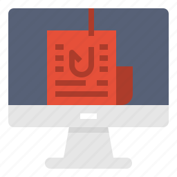 computer, data, information, monitor, phishing, technology icon