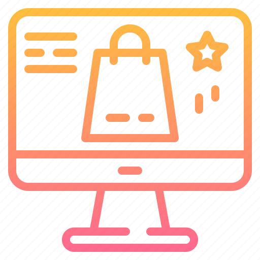 Bag, computer, marketing, monitor, online, shoping, technology icon - Download on Iconfinder