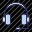 audio, component, computer, headphone, music icon