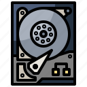 computer, disc, download, electronics, external, harddisk, interface icon