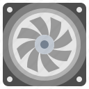 computer, cooler, cooling, electronics, fan, hot, warm icon