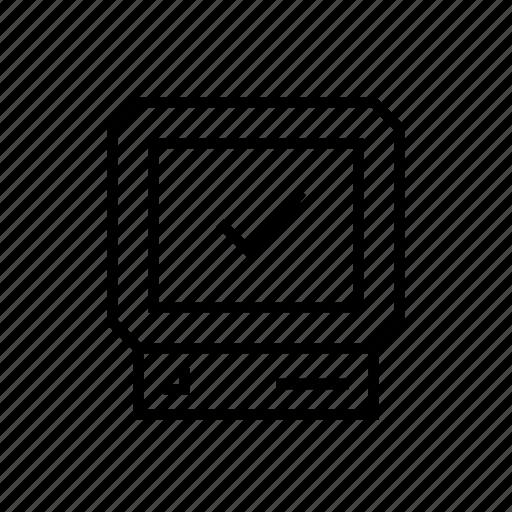 computer, ok, pc, screen icon