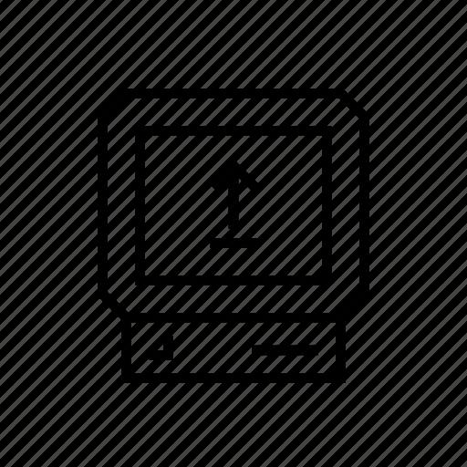 computer, pc, screen, upload icon