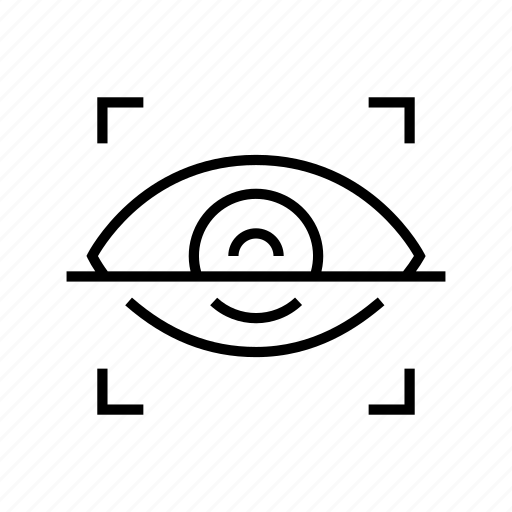 eye, protection, scan, security icon