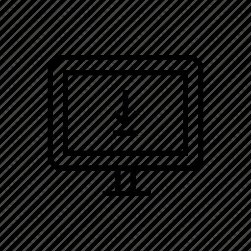 download, monitor, pc, screen icon