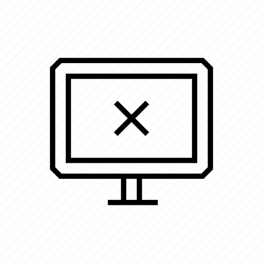 error, monitor, pc, screen icon
