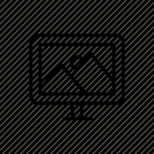 monitor, pc, screen, wallpaper icon