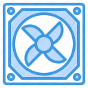 case, computer, fan, interface, technology icon