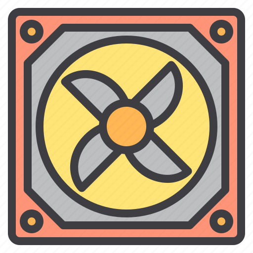 case, computer, device, fan, interface, technology icon