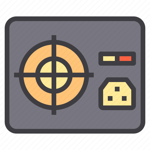 computer, device, interface, power, supply, technology icon
