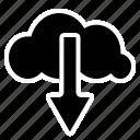 cloud, clouddownload, download, filedownload icon