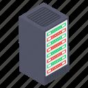 data hosting, data server rack, data storage, datacenter, dataserver icon