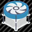 case fan, computer cooler, computer fan, computer hardware, pc component, processor fan icon