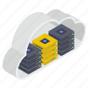 cloud computing, cloud data server, cloud hosting, cloud technology, data hosting, data storage icon