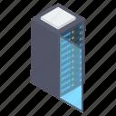 data center, data hosting, data server, data server rack, data storage, network icon