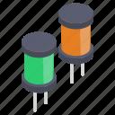 ceramic capacitors, circuit components, computer capacitors, electronic components, led capacitors, power capacitors icon