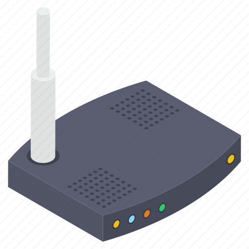 broadband modem, internet device, modem, network router, wifi router, wireless router icon